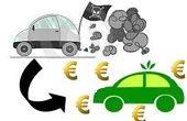 Immagine del passaggio a autoveicolini inquinantia ad autoveicoli a ridotto impatto ambientale