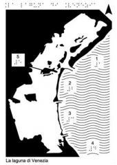 mappa tattile della laugna di Venezia