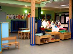 """l'interno della scuola dell'infanzia """"Dario e Federica Stefani"""""""