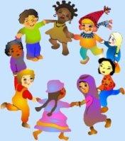 girotondo di bambini ialiani e stranieri