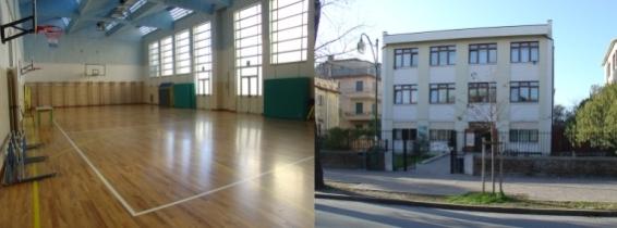 foto interno ed esterno palestra scuola pisani