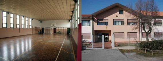 foto palestra scuola Loredan interno ed esterno