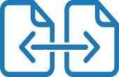 icona interprestito: due fogli collegati da una freccia