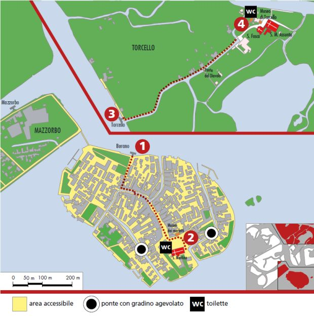 mappa Burano e Torcello