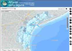 La pagina iniziale del sito dell'Atlante della laguna