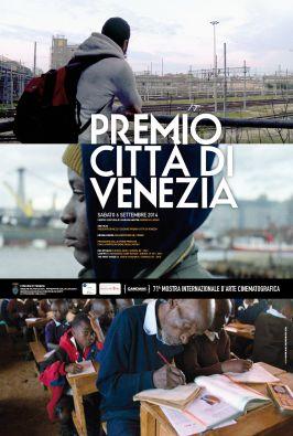 Manifesto del Premio Città di Venezia 2014 con foto varie e programma