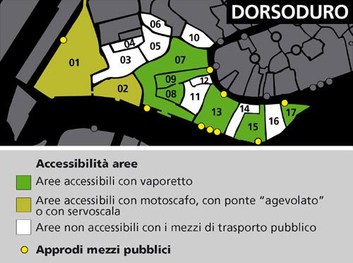 Mappa area Dorsoduro