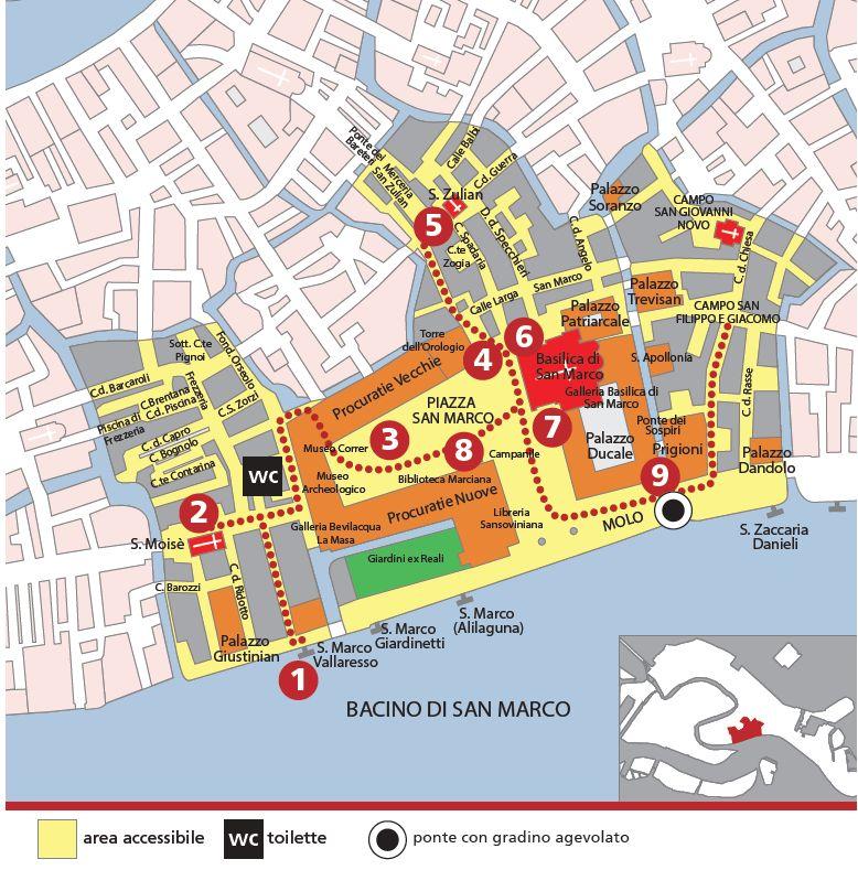 mappa dell'area Marciana