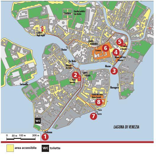 mappa Murano
