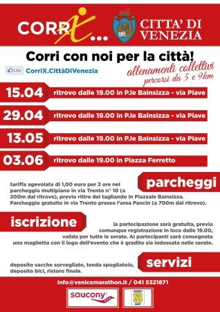 locandina Corri per....running urbano per la città