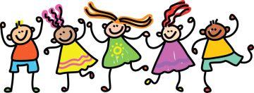 Disegno di bambini allegri - dettaglio della locandina