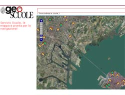 La pagina iniziale del sito GeoScuole