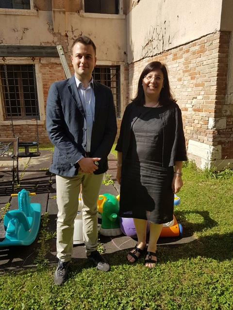 L'assessore Venturini con la presidente Faccini