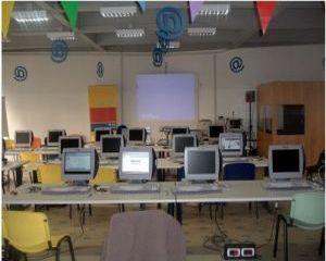 la sala corsi del Centro Internet di Marghera