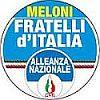 simbolo a colori del  partito: Meloni, Fratelli D'Italia, Alleanza Nazionale