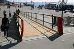 Foto di una rampa installata per Venice Marathon