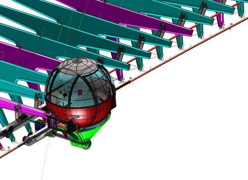 Ponte di calatrava costruito il telaio della cabina dell for Una planimetria della cabina del telaio
