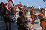 Sfilata dei tamburini del corteo storico