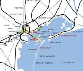 mappa degli accessi a Venezia