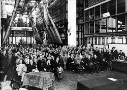 Inaugurazione centrale SADE di Porto Marghera, 1928 ca. Foto Ferruzzi, Archivio ENEL Venezia