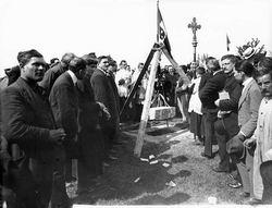 Marghera, posa della prima pietra del quartiere urbano,1921ca. Reale Fotografia Giacomelli Comune di Venezia