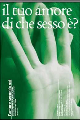 """Manifesto della campagna """"L'amore secondo noi"""""""