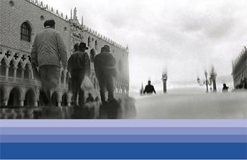 Acqua alta a San Marco:immagine volantino informativo nuove sirene