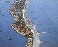 Veduta aerea del Lido di Venezia