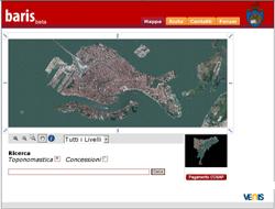 La pagina iniziale del sito di Baris
