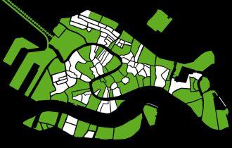 mappa della Venezia accessibile