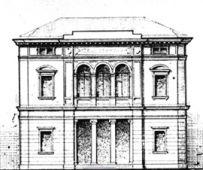 La facciata del Teatro Toniolo nel 1912