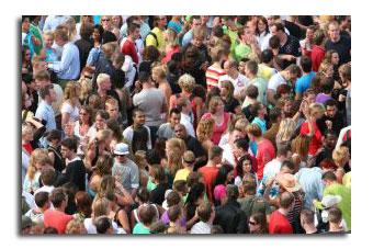 Folla di persone