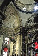 L'interno della chiesa della Salute