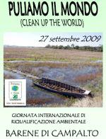 particolare della locandina della manifestazione puliamo il mondo 2009