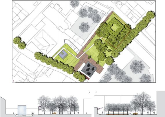 Caneve e giardino parco ponci comune di venezia for Planimetria giardino