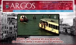 La pagina iniziale del sito di Argos