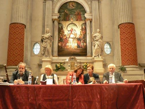 Tavolo dei Relatori: da Sinistra: Maurizio Cecconi, Monica Da Cort
