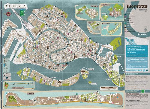 Fuorirotta l 39 altra mappa di venezia 2014 comune di venezia - Ci mappa da colorare pagina di mappa ...