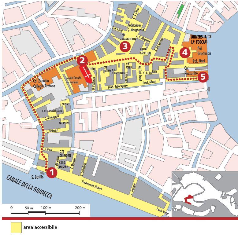 mappa area S. Margherita