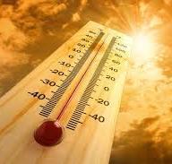 Termometro sotto il sole cocente