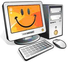 immagine di un pc sorridente