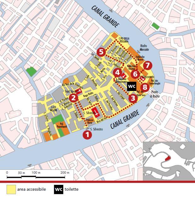 mappa Rialto Mercato