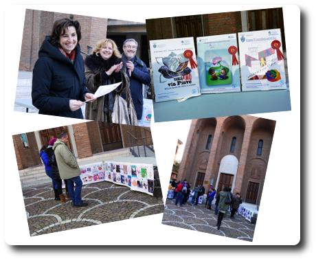 """qualche foto della premiazione delll'avvio dell'iniziativa """"Il fiore dei diritti umani"""""""