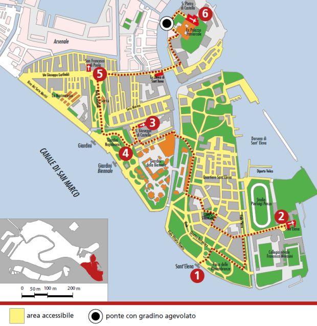 Mappa Castello Est