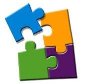 Quattro quadrati in un puzzle geometrico
