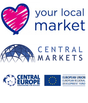 Loghi progetti Love your local market, CENTRAL MARKETS e Central Europe