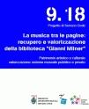 """La musica tra le pagine: recupero e valorizzazione della biblioteca """"Gianni Milner"""" (2 volontari)"""