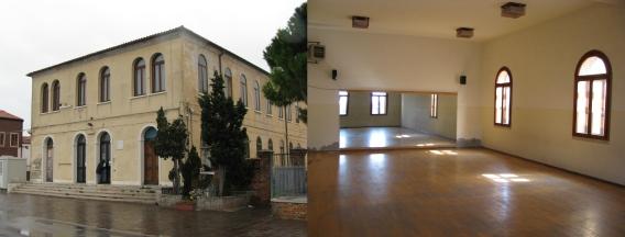 foto palestra ex Goldoni esterno ed interno