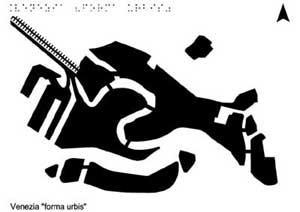 "mappa tattile di Venezia ""forma urbis"""