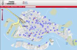 La pagina della mappa interattiva di Venezia
